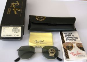 Ray Ban W1287 Antique Style 3 Pewter Metal G15 Gray Lens